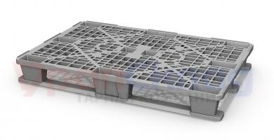 Легкий пластиковый паллет 1200х800 с 3 полозьями