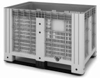 11.602.91.PE.C9 Пластиковый контейнер iBox 1200х800 (перфорированный, на полозьях)