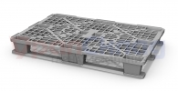 Легкий пластиковый паллет 1200х800 с 2 полозьями