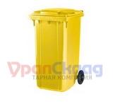 Мусорный контейнер (240л) желтый
