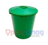 Бак с крышкой (70 л) зеленый